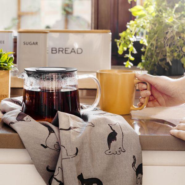 MILBO Dzbanek z zaparzaczem do kawy i herbaty 1 l