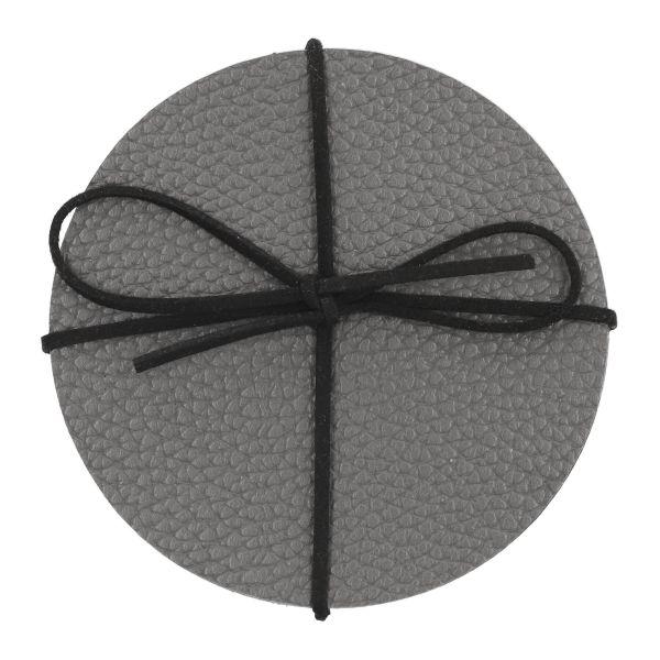 FEMELO Zestaw 4 szt. podkładek do jadalni szarych 10 cm