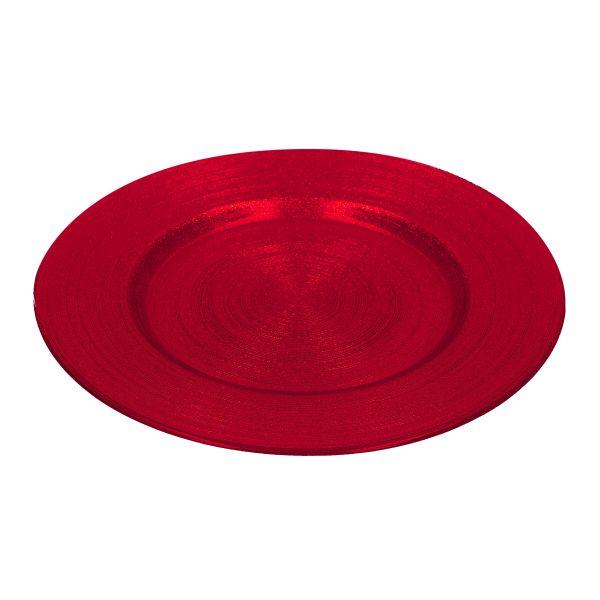 BLITS Talerz czerwony 34 cm