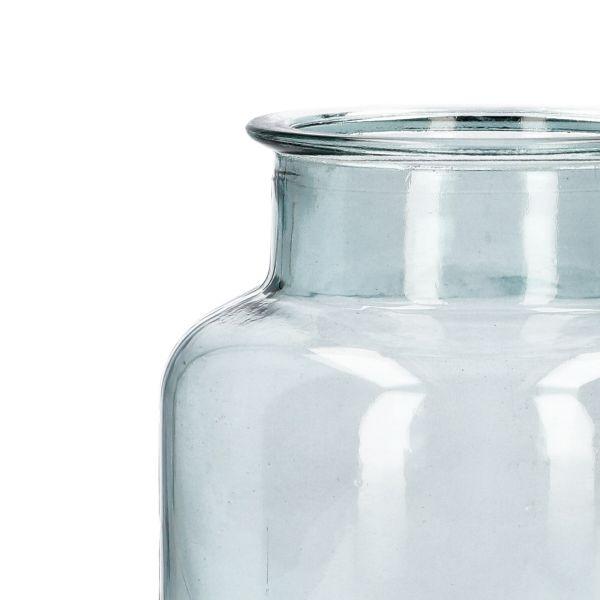 TENNO Wazon szklany niebieski 14x22 cm