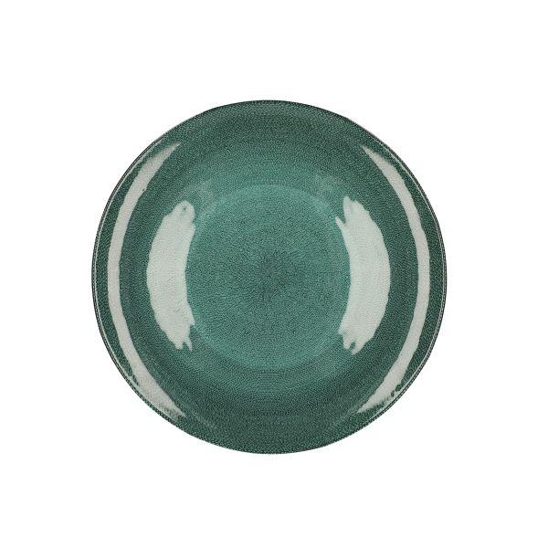 TUNJA Talerz zielony M 21 cm