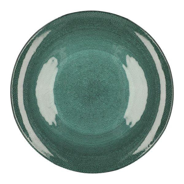 TUNJA Talerz zielony L 28 cm