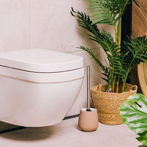 HAMI Szczotka toaletowa z wytłoczeniami beżowa 40 cm