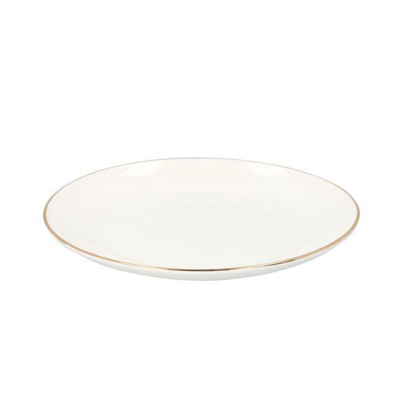 AURO Talerz obiadowy ze złotą obwódką 26 cm