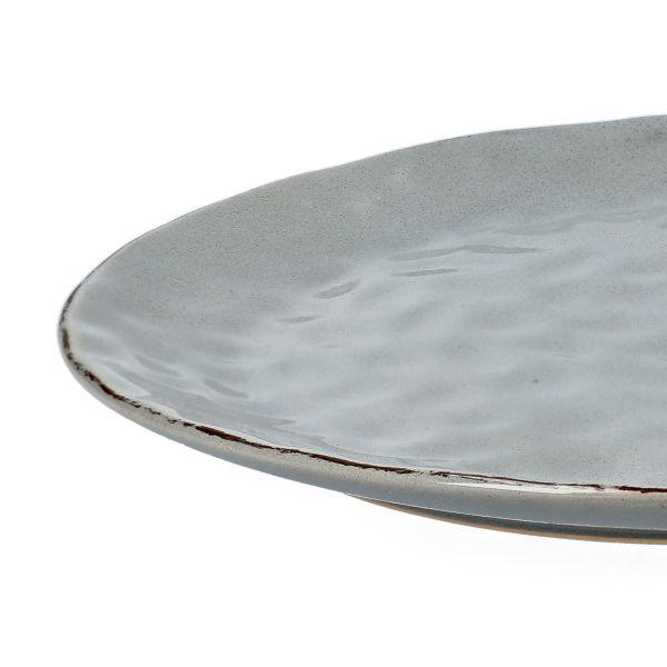 NOEMI Talerz obiadowy szary 27 cm