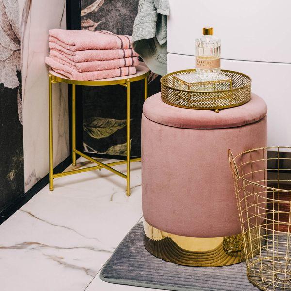 OCTOPUS Ręcznik bawełniany z lamówką różowy 50x90 cm