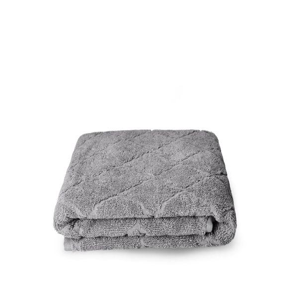 SAMINE Ręcznik z marokańską koniczyną szary 70x130 cm