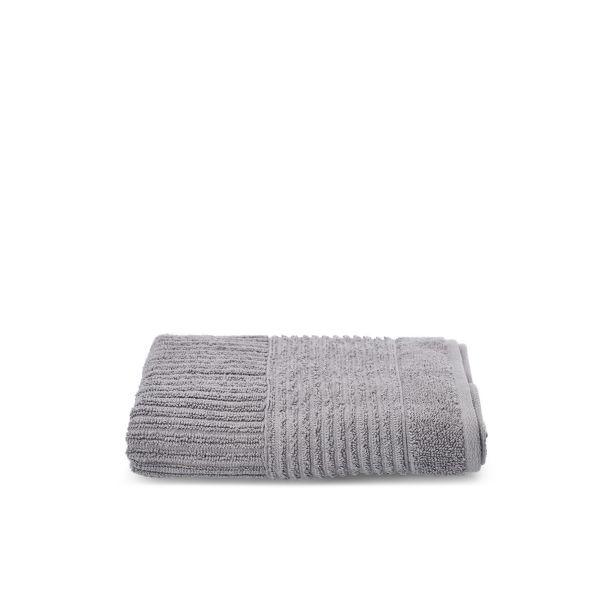 NALTIO Ręcznik w paski szary 50x90 cm