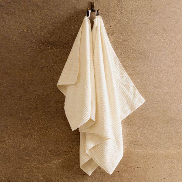 NALTIO Ręcznik w paski ecru 70x130 cm