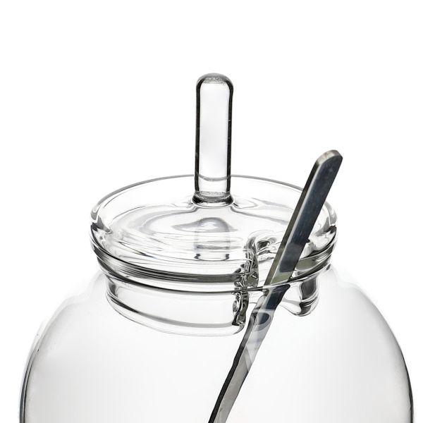 RASIE Cukiernica szklana z łyżeczką 9x8 cm