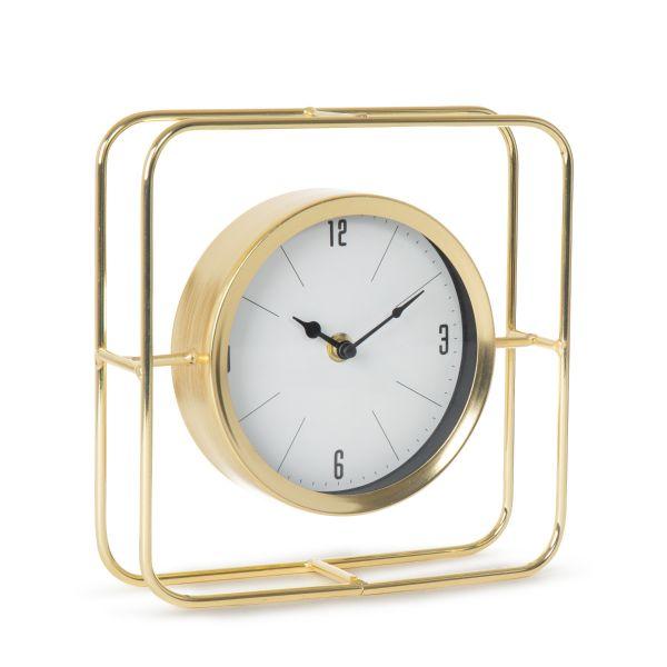 CROY Zegar złoty 21x6x21 cm