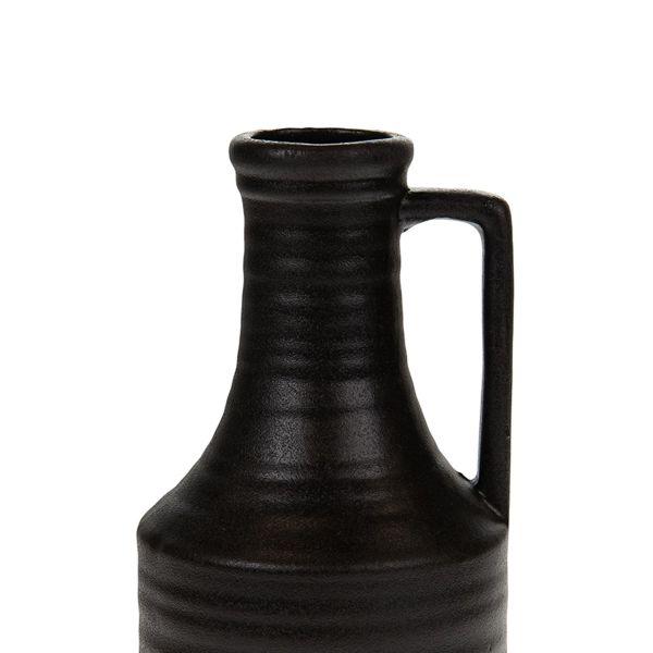 ALTRA Ceramiczny wazon czarny 20x9,5 cm