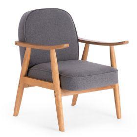 LANTY Fotel wypoczynkowy szary 64x87x45 cm