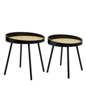 WIRE Zestaw stolików kawowych 2szt. 45x46 cm