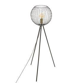 BERROS Lampa podłogowa czarna 52x52x119 cm