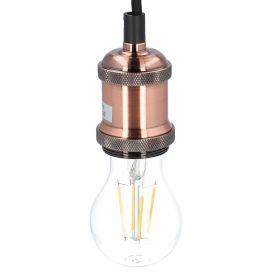 VILDA Lampa sufitowa z metalowym elementem miedziana 7 cm