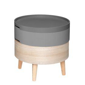 COFFRE Stolik kawowy okrągły szary 40x40 cm