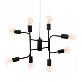 VALENE Lampa sufitowa czarna 42 cm