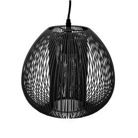 NODA Lampa sufitowa czarna 25 cm