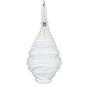 ALI Lampa sufitowa srebrna 82 cm