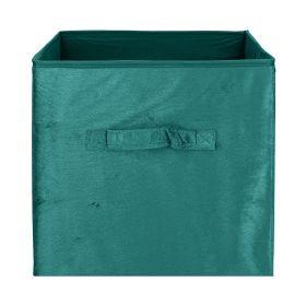 LENNY Kosz do przechowywania niebieski welwetowy 31x31 cm