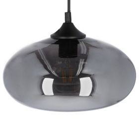KALTA Lampa sufitowa czarna 28x28 cm