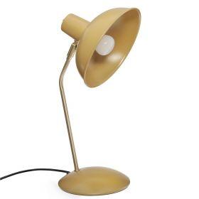KARLY Lampa stołowa musztardowa 38 cm