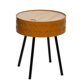 CIVEN Stolik kawowy musztardowy 38,5x45,5 cm