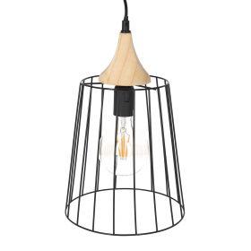 BORGE Lampa sufitowa z drewnianym elementem max. 40 W 32x23 cm