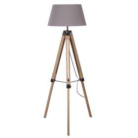 KARY Lampa podłogowa szara 145 cm
