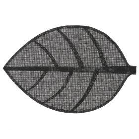 LEAF Podkładka w kształcie liścia czarna 50x33 cm