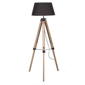 KARY Lampa podłogowa czarna 145 cm