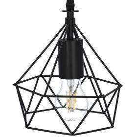 SELMA Lampa sufitowa czarna Max. 40 W 22 cm