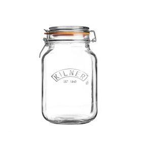 KILNER Słoik Square Clip Top Jar 2l