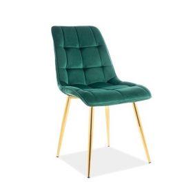 CHIC Krzesło zielone 47x41x87 cm