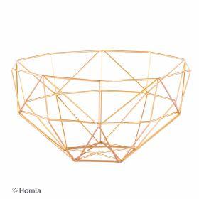 SLING Koszyk metalowy złoty 28x29 cm