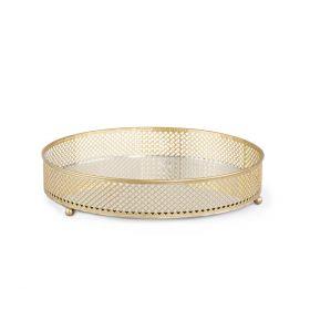 MATIR Taca z lustrem złota 26x26 cm