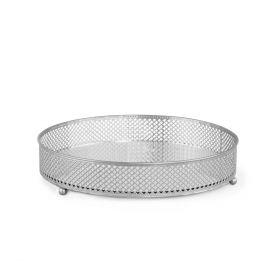 MATIR Taca z lustrem srebrna 26x26 cm