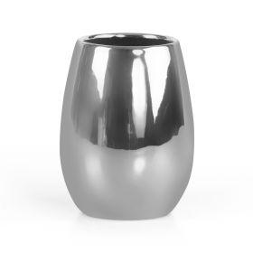 NOELLE Kubek łazienkowy gładki srebrny 0,35 l