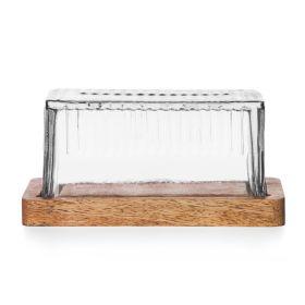 WOOD COLONY Maselniczka szklana 8x11x16 cm