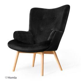 MOSS Fotel czarny 72x96 cm