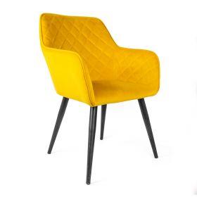 SHELTON Krzesło musztardowe 57x40x86 cm