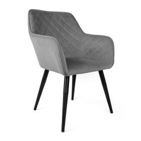 SHELTON Krzesło szare 57x40x86 cm