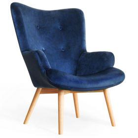 MOSS Fotel granatowy 72x96 cm