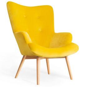 MOSS Fotel żółty 72x96 cm