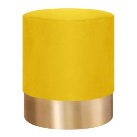 FICA Puf żółto-złoty 35x42 cm