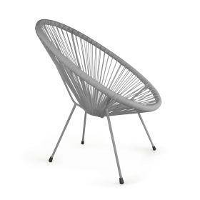 ACAPULCO Fotel szary 93x73x85 cm