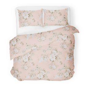 SOPHIA Komplet pościeli bawełnianej w kwiaty różowej 200x220 cm