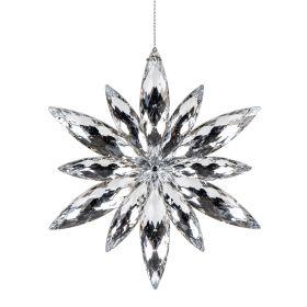 ASTRE Zawieszka srebrna śnieżynka 10 cm