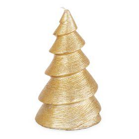 FROSTED Świeca - choinka złota 15 cm